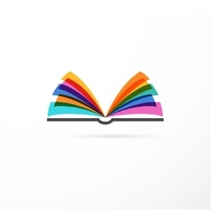Open book - colorful concept icon of education vector image vector image