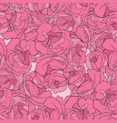 seamless pattern with peonies vector image vector image