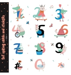 Set of Birthday Anniversary Numbers vector image vector image