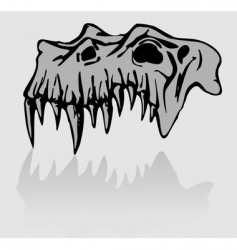 skull of demon vector image vector image