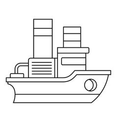 Small ship icon outline style vector image vector image