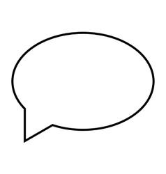 Speech bubble line icon vector image vector image
