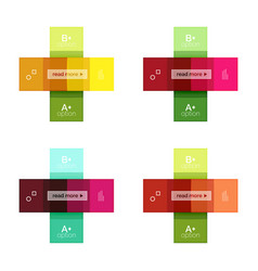 Square and stripes geometric infographic templates vector