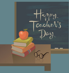 teachers day greeting card background vector image