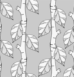 Black and white plant pattern vector