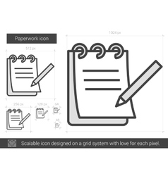 Paperwork line icon vector