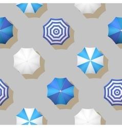 umbrellas autumn weather seamless pattern vector image
