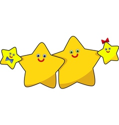 Funny image the family of stars vector