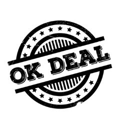 Ok deal rubber stamp vector