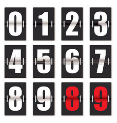 number clock counter vector image