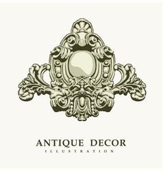 classical antique decor vector image