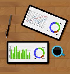 Statistics analysis chart vector
