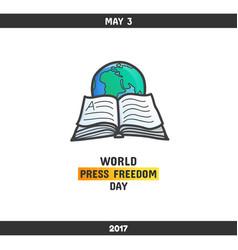 world press freedom day may 3 vector image