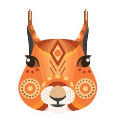Squirrel head logo decorative emblem vector