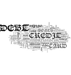 Beat credit card debt in easy steps text word vector
