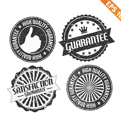 Label stitch sticker tag guarantee - - eps10 vector