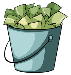 A pail of money vector