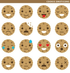 Cookie emoticons vector