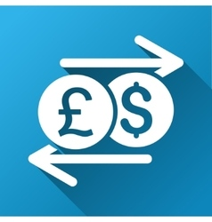 Money exchange gradient square icon vector