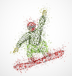 Abstract snowboarder2 vector