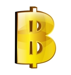 Currency money bitcoin symbol icon over white vector