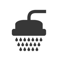 Shower icon bathroom design graphic vector