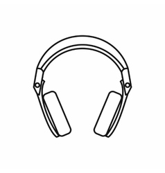 Headphones icon outline style vector
