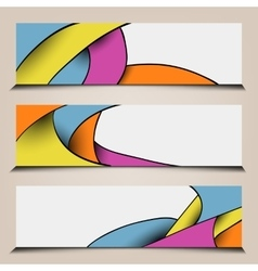 Abstract colorful polygon banners vector image vector image