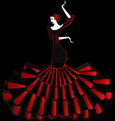 Abstract flamenco dancer in the dark vector