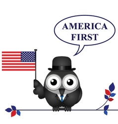 America first pledge vector