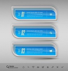 Business banners design elements for infographics vector image