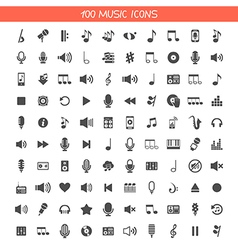 Collection music icons vector image vector image