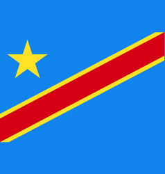 Democratic republic of the congo national current vector