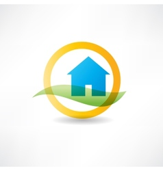 eco house abstraction icon vector image
