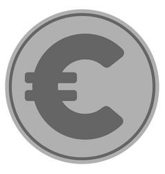 euro silver coin vector image