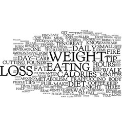 Five tips for easy weight loss text background vector