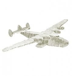 float plane vector image vector image