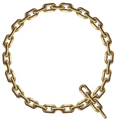 Golden Letter Q vector image