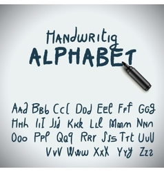 Hand drawing alphabet vector image vector image