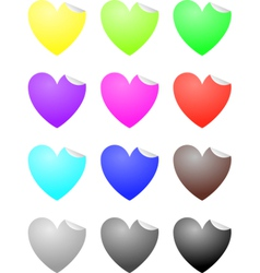 Heart labels vector