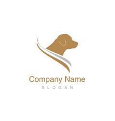 labrador logo vector image vector image