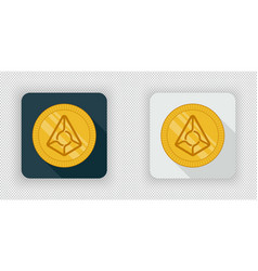 light and dark augur crypto currency icon vector image vector image