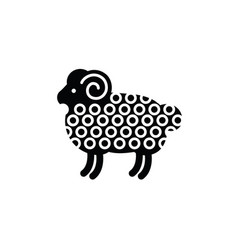 linear stylized drawing of ram vector image vector image