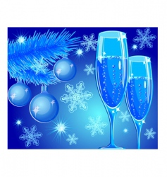 new year toast vector image vector image