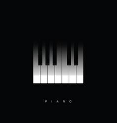 Piano key icon vector