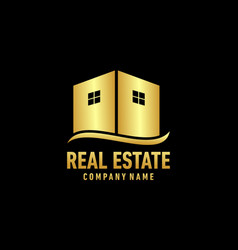 Real eastate building logo vector