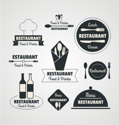 Restaurant retro logo vector