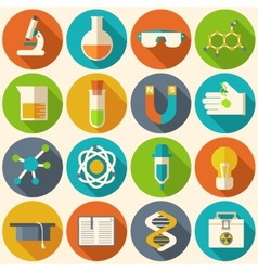 Retro experiments in a science chemistry vector image