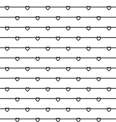 Rope wires with heart knots black and white vector image vector image