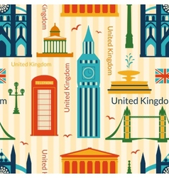 Seamless pattern with landmarks of United Kingdom vector image vector image
